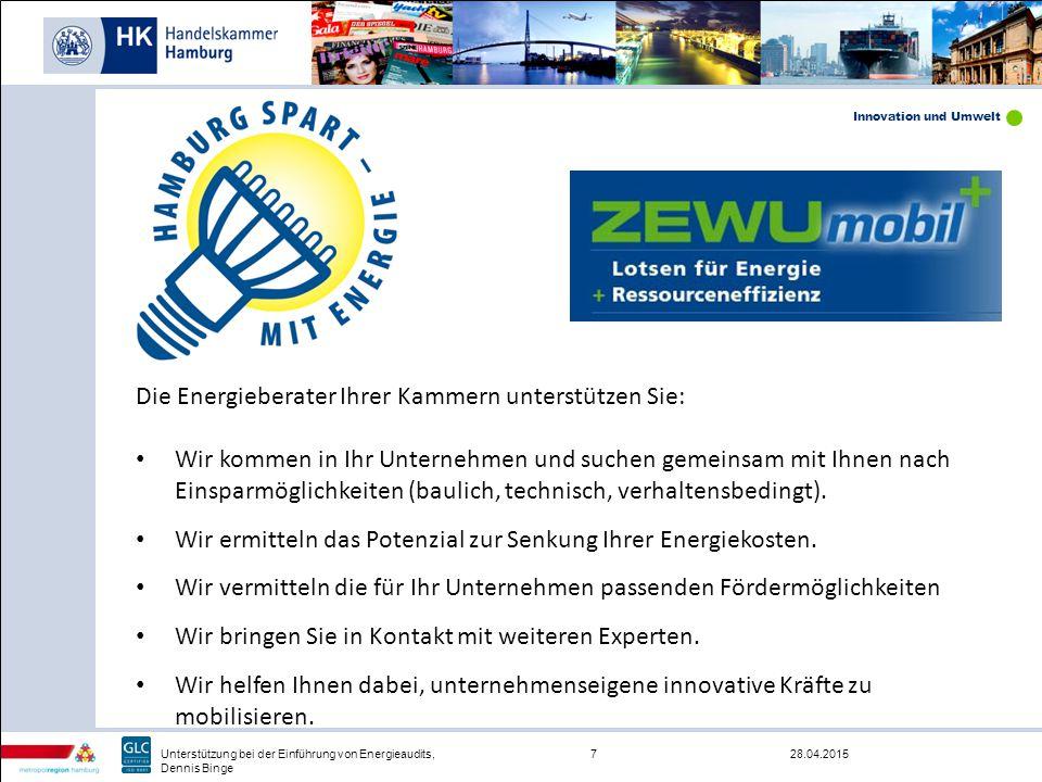 Die Energieberater Ihrer Kammern unterstützen Sie: