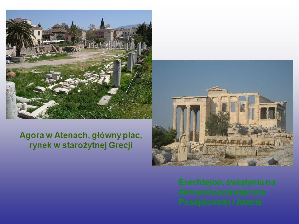 Agora w Atenach, główny plac, rynek w starożytnej Grecji