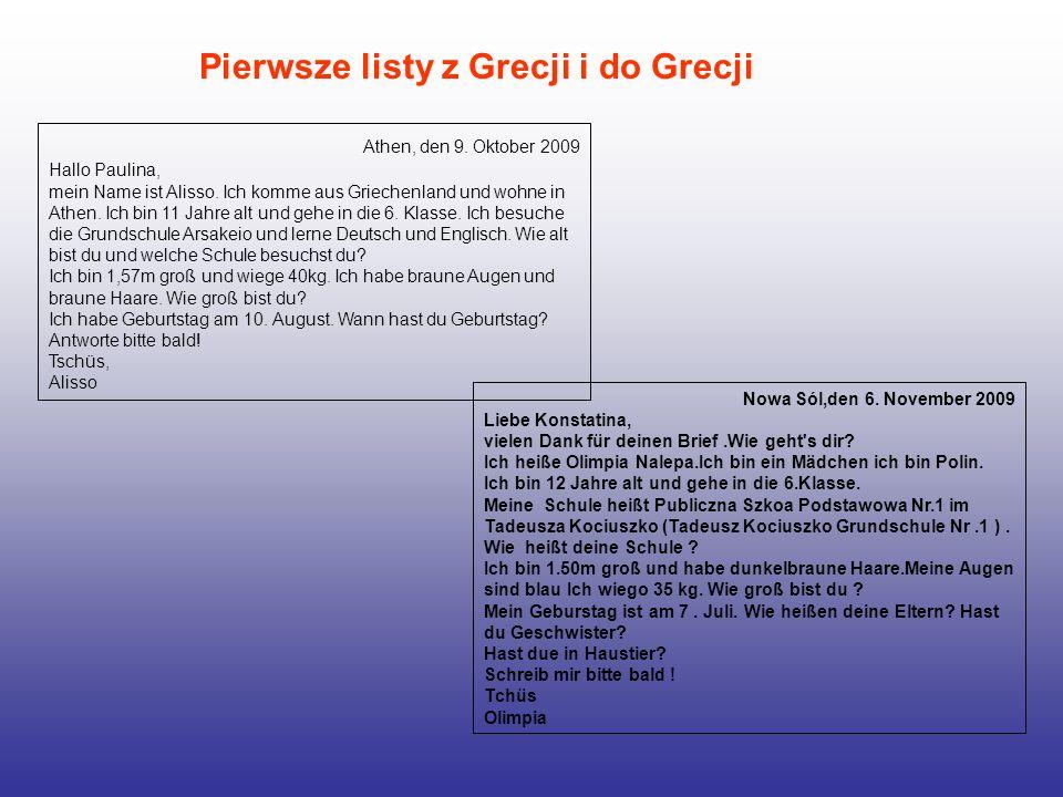 Pierwsze listy z Grecji i do Grecji