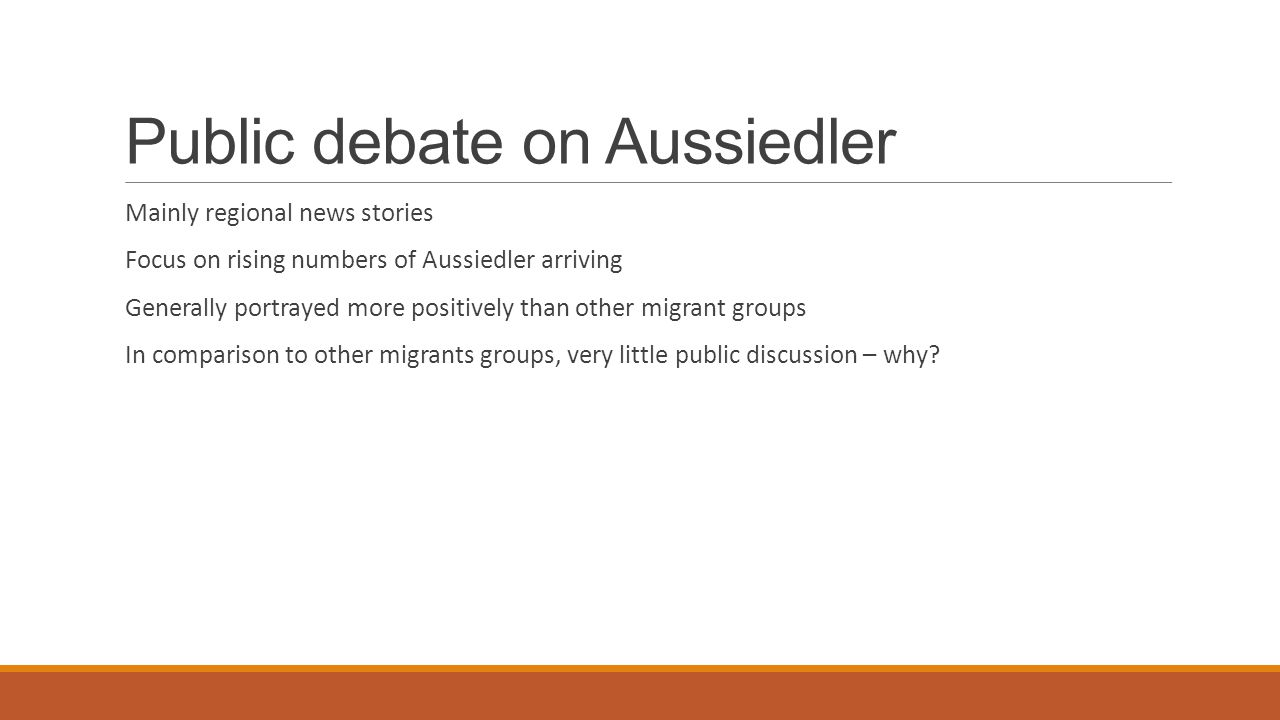 Public debate on Aussiedler