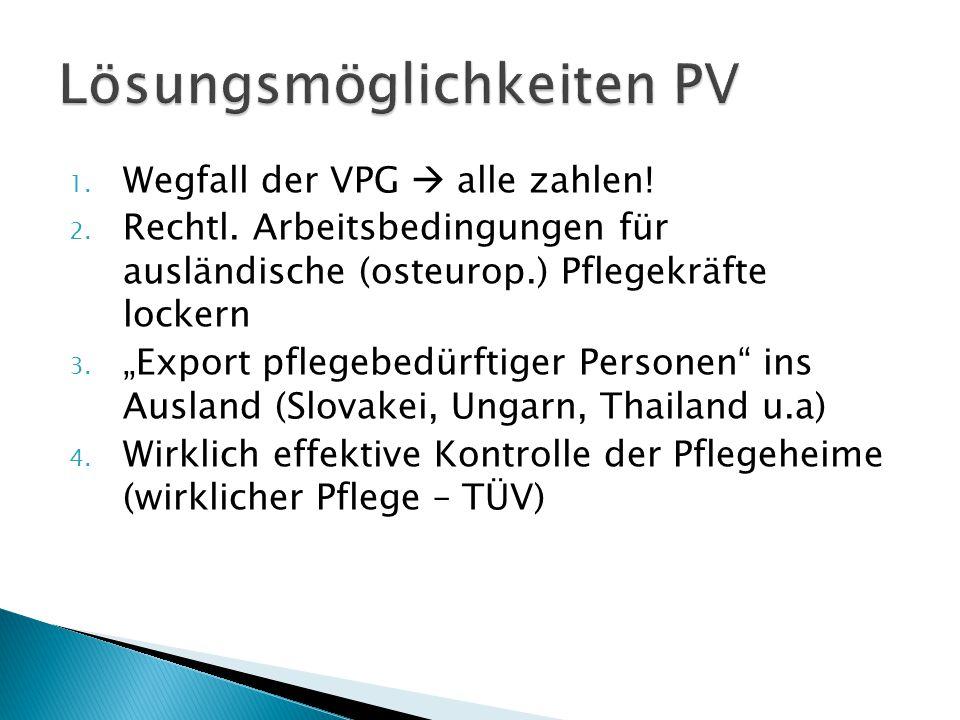 Lösungsmöglichkeiten PV