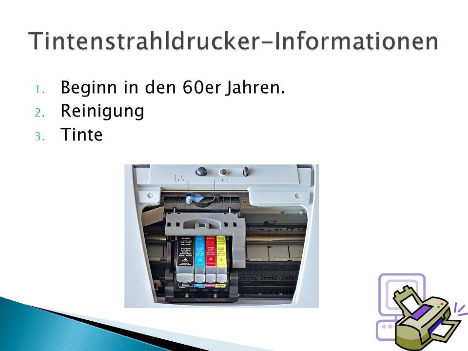 Tintenstrahldrucker-Informationen