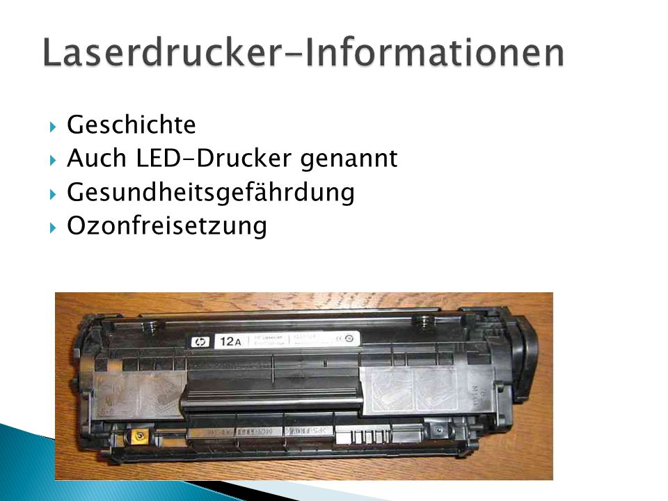 Laserdrucker-Informationen