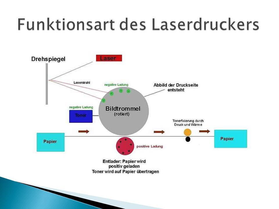 Funktionsart des Laserdruckers