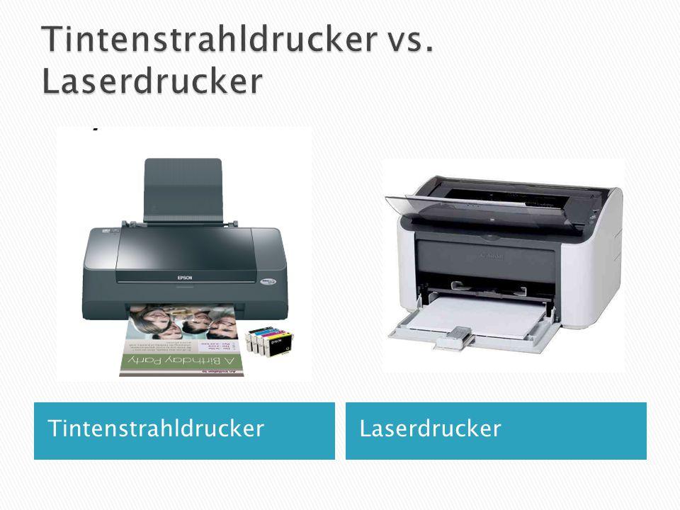 Tintenstrahldrucker vs. Laserdrucker