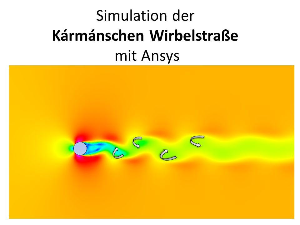 Simulation der Kármánschen Wirbelstraße mit Ansys