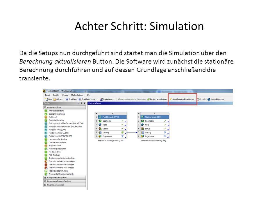 Achter Schritt: Simulation