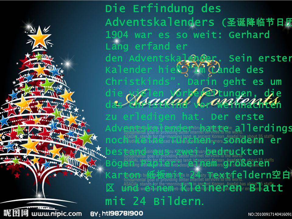Die Erfindung des Adventskalenders (圣诞降临节日历)