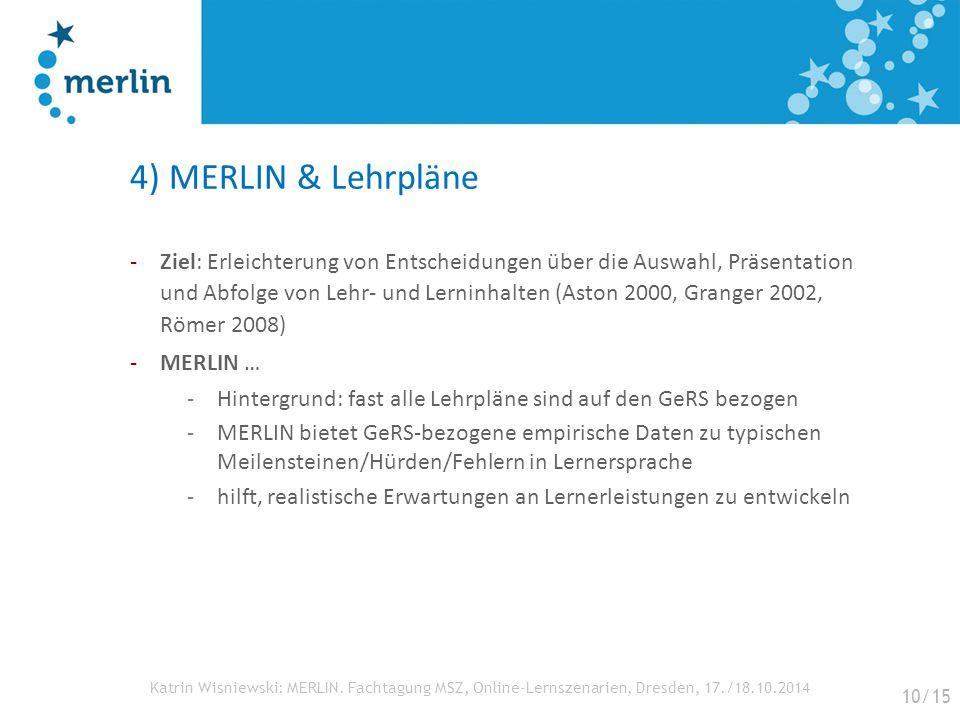 4) MERLIN & Lehrpläne