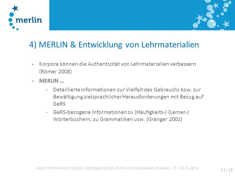 4) MERLIN & Entwicklung von Lehrmaterialien