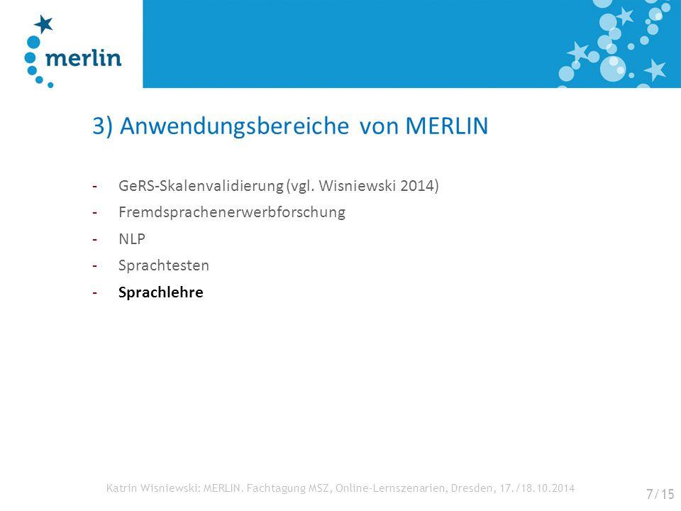 3) Anwendungsbereiche von MERLIN