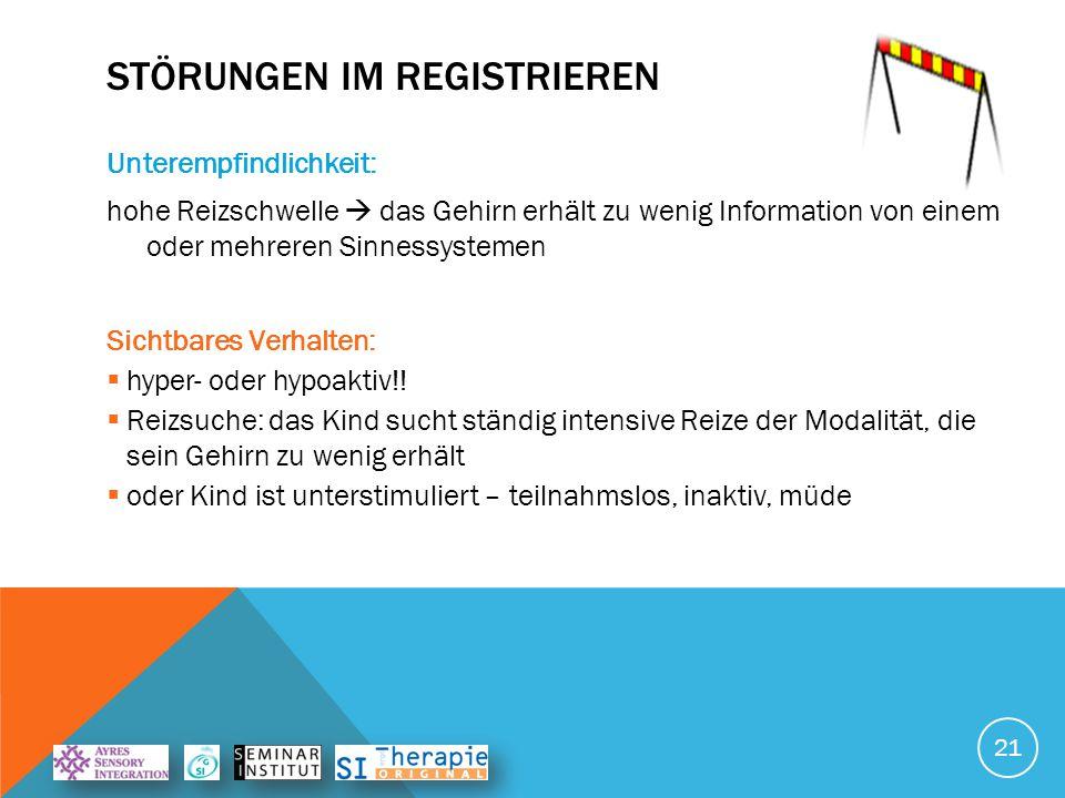 Störungen im Registrieren