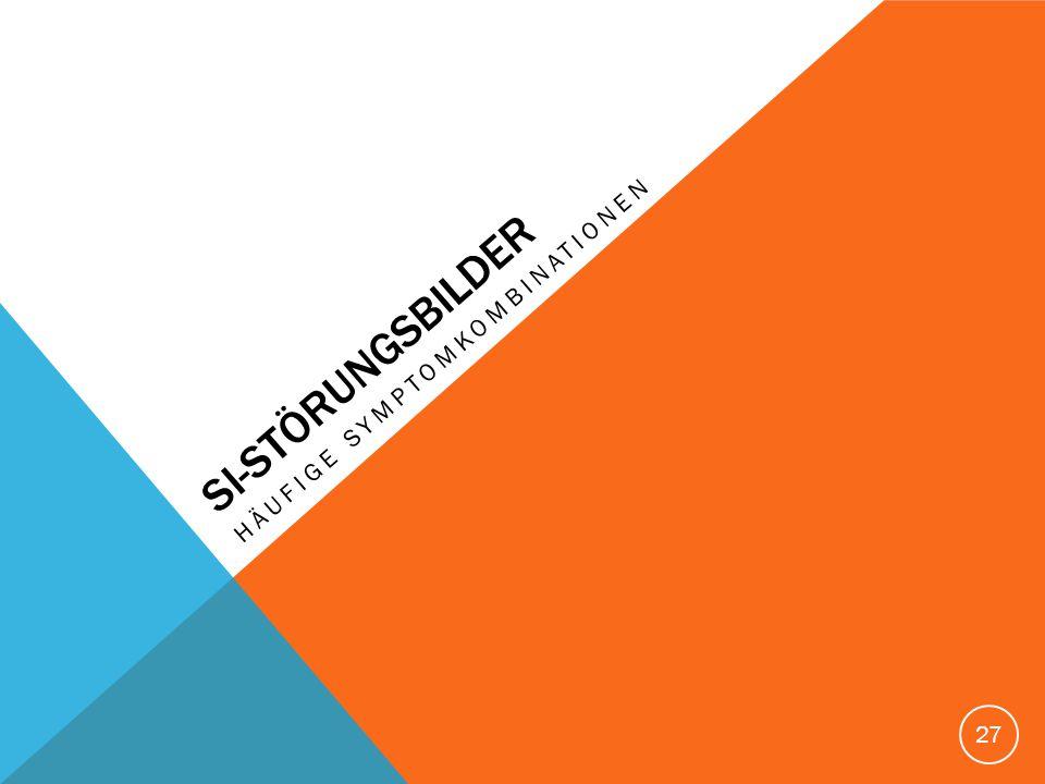 SI-STöRUNGSBILDER Häufige Symptomkombinationen