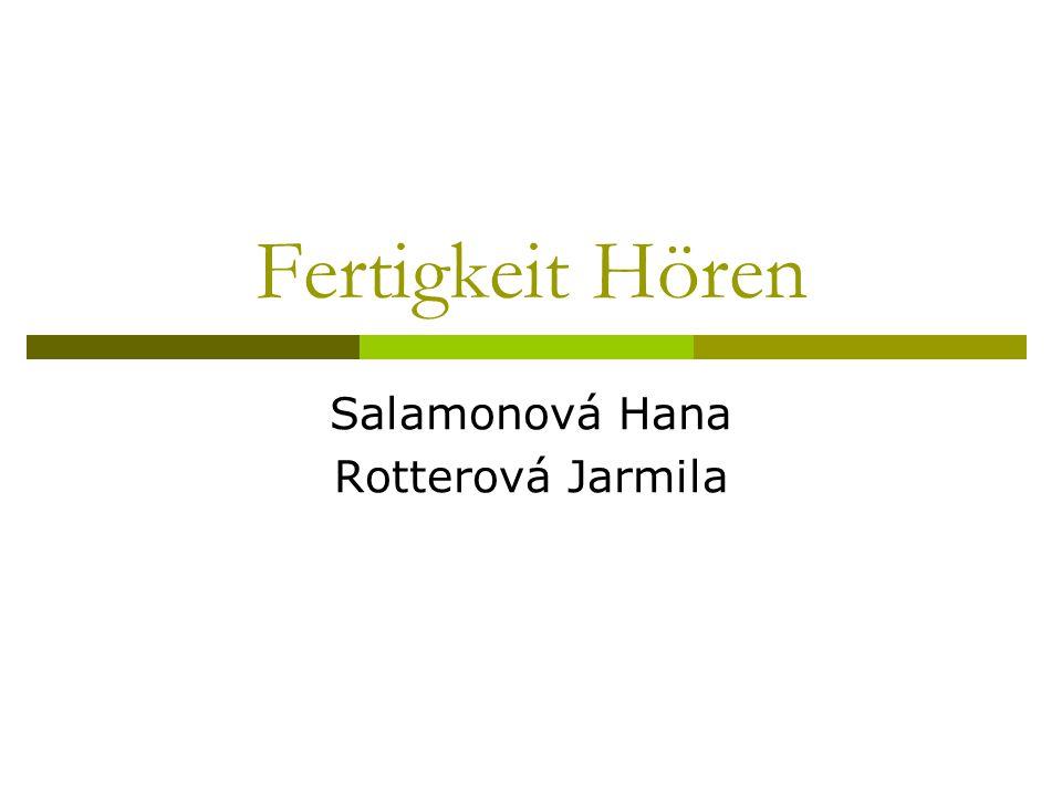Salamonová Hana Rotterová Jarmila