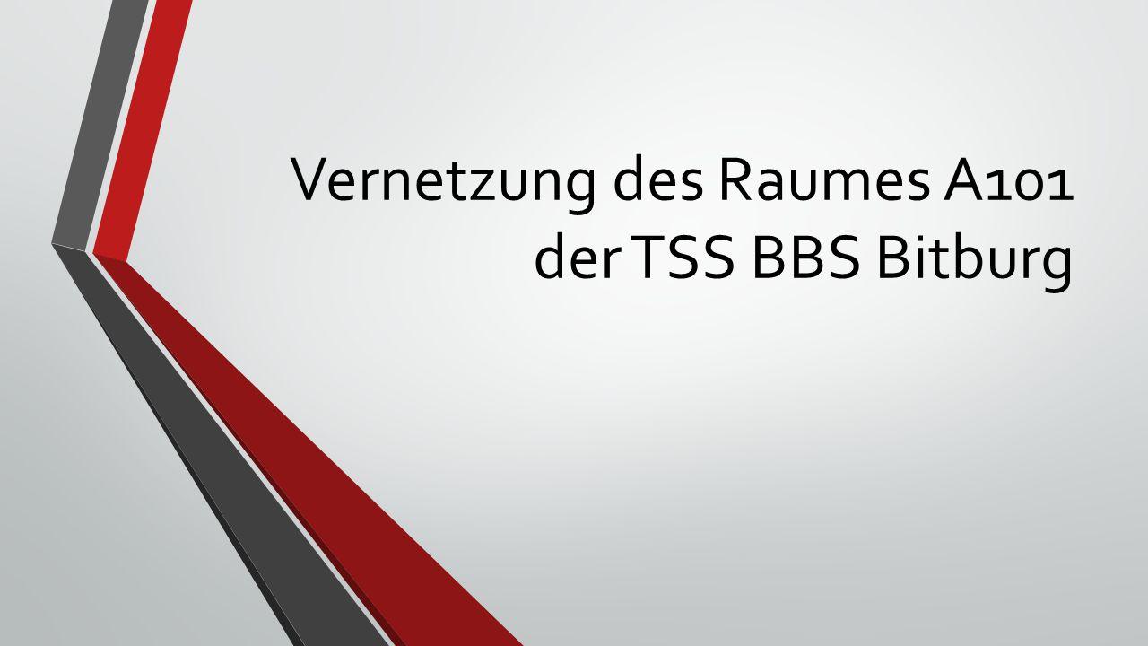Vernetzung des Raumes A101 der TSS BBS Bitburg