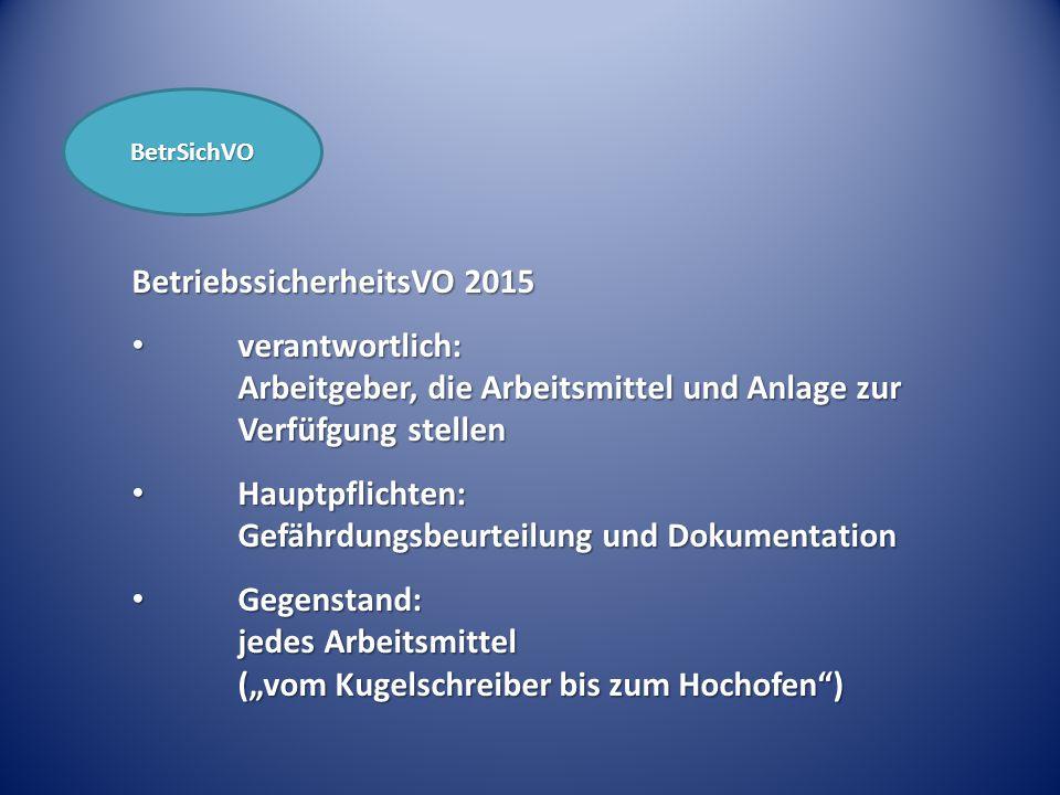 BetriebssicherheitsVO 2015