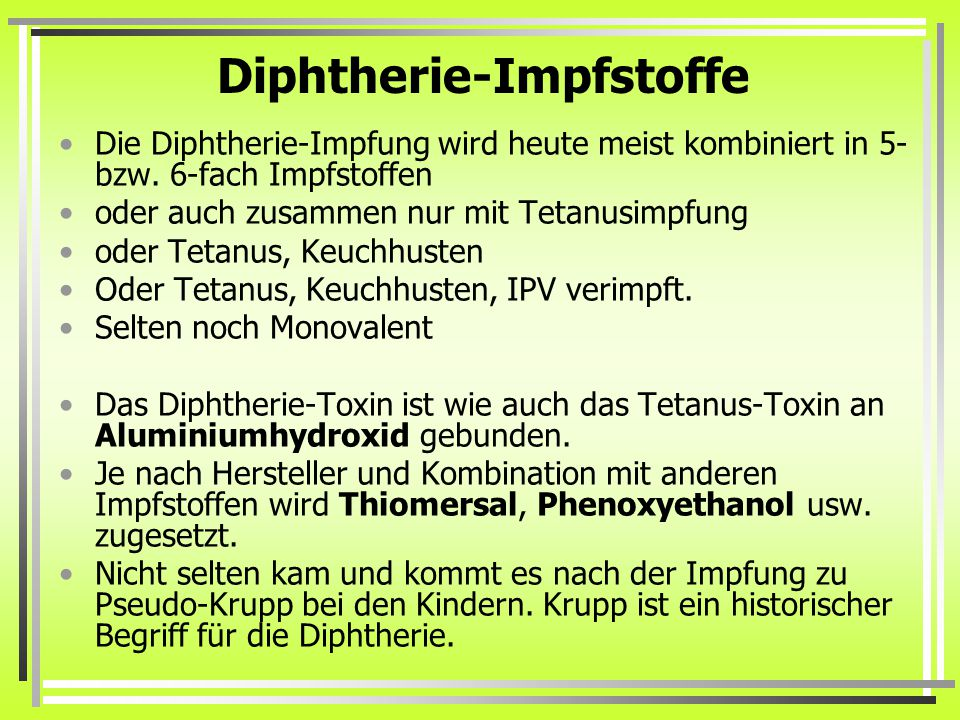 Diphtherie-Impfstoffe