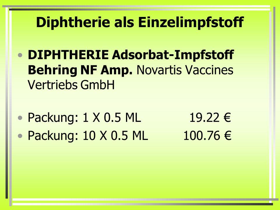 Diphtherie als Einzelimpfstoff