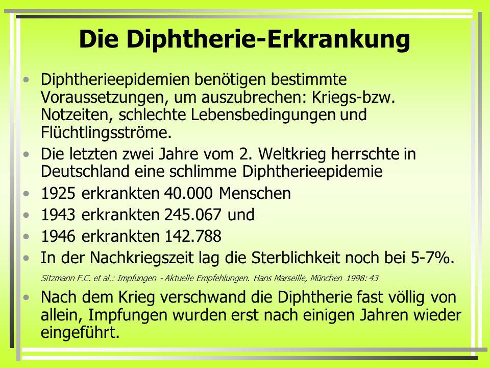 Die Diphtherie-Erkrankung