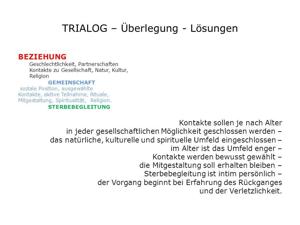 TRIALOG – Überlegung - Lösungen