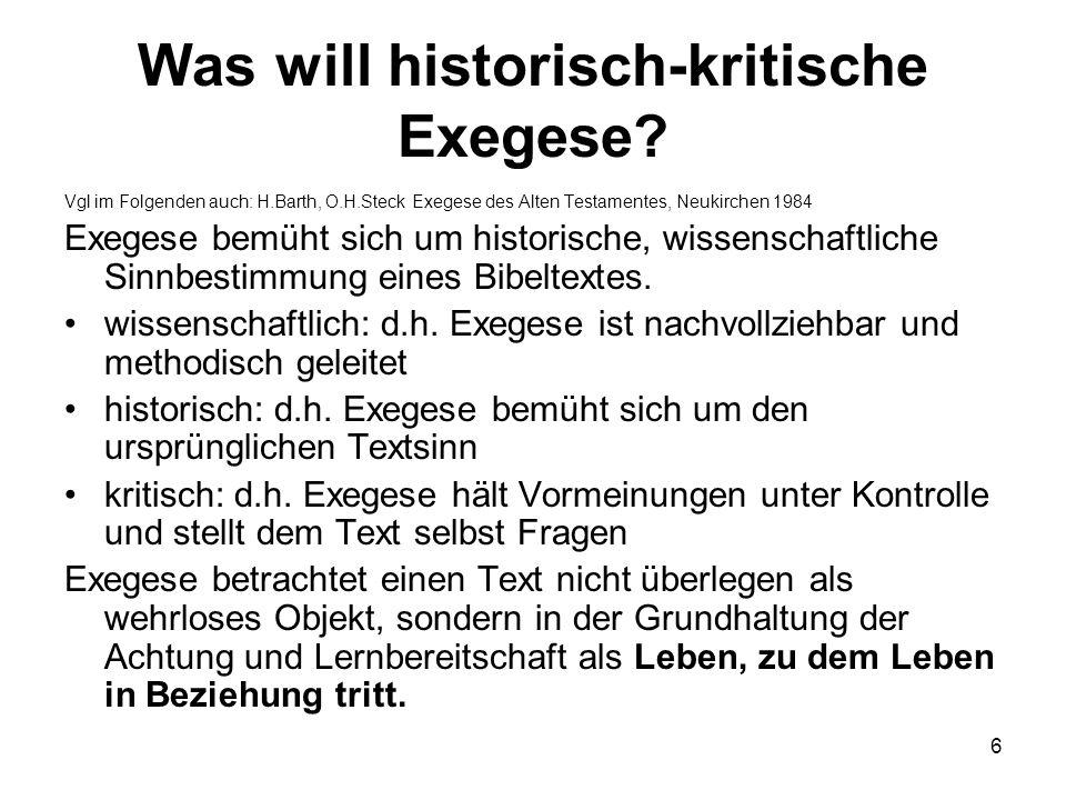 Was will historisch-kritische Exegese