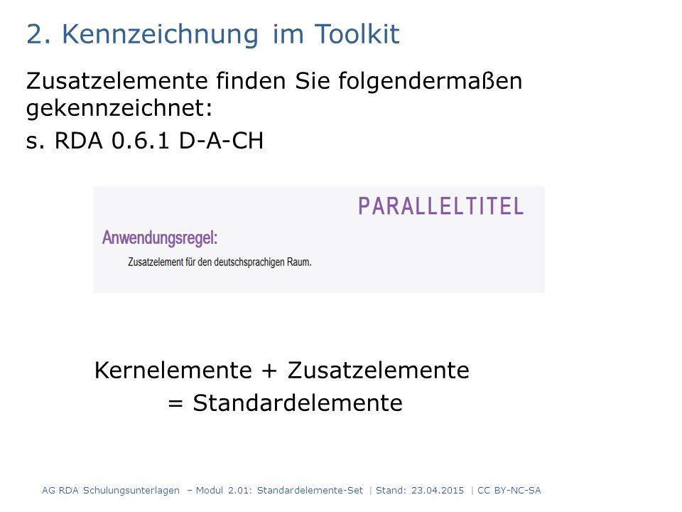 2. Kennzeichnung im Toolkit