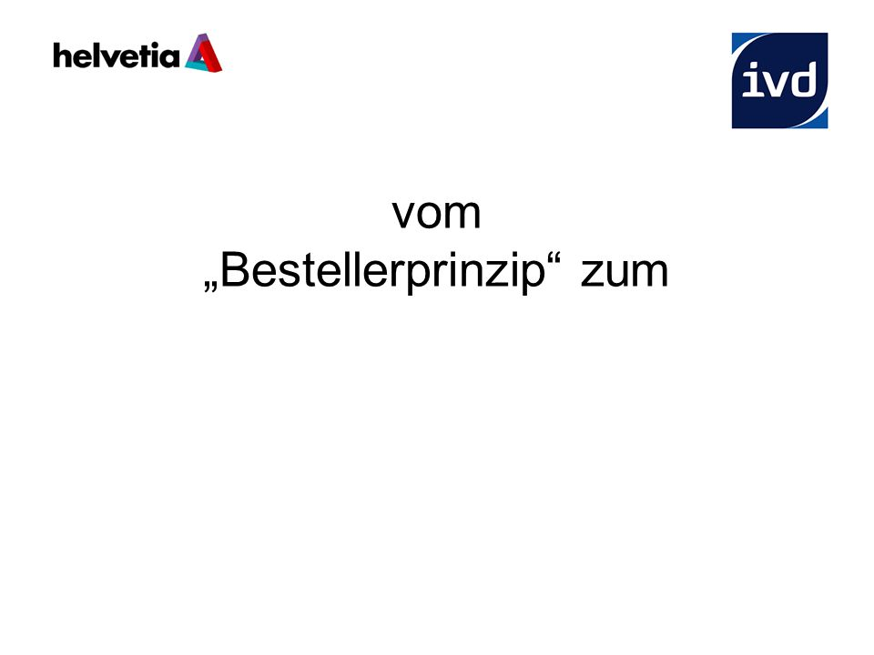 """vom """"Bestellerprinzip zum Best – Seller - Prinzip"""