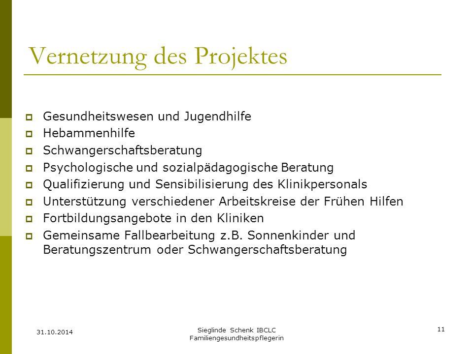 Vernetzung des Projektes