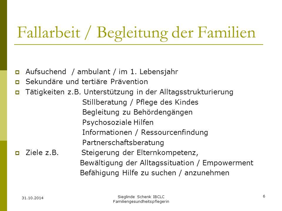 Fallarbeit / Begleitung der Familien
