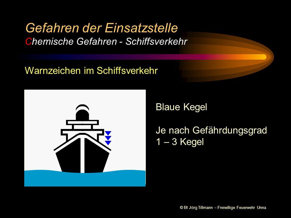 Gefahren der Einsatzstelle Chemische Gefahren - Schiffsverkehr