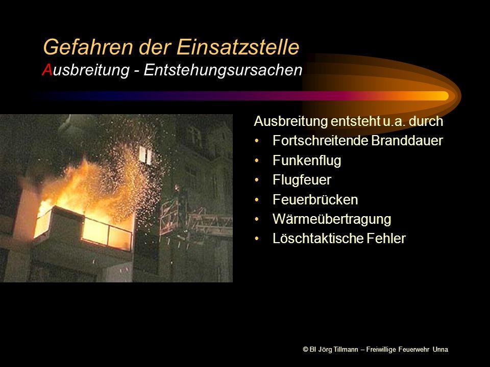 Gefahren der Einsatzstelle Ausbreitung - Entstehungsursachen