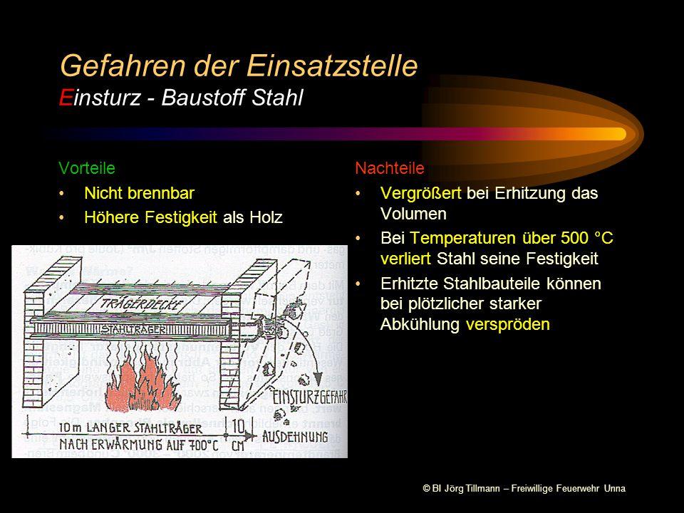 Gefahren der Einsatzstelle Einsturz - Baustoff Stahl
