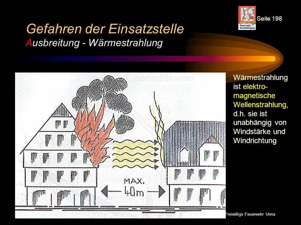 Gefahren der Einsatzstelle Ausbreitung - Wärmestrahlung