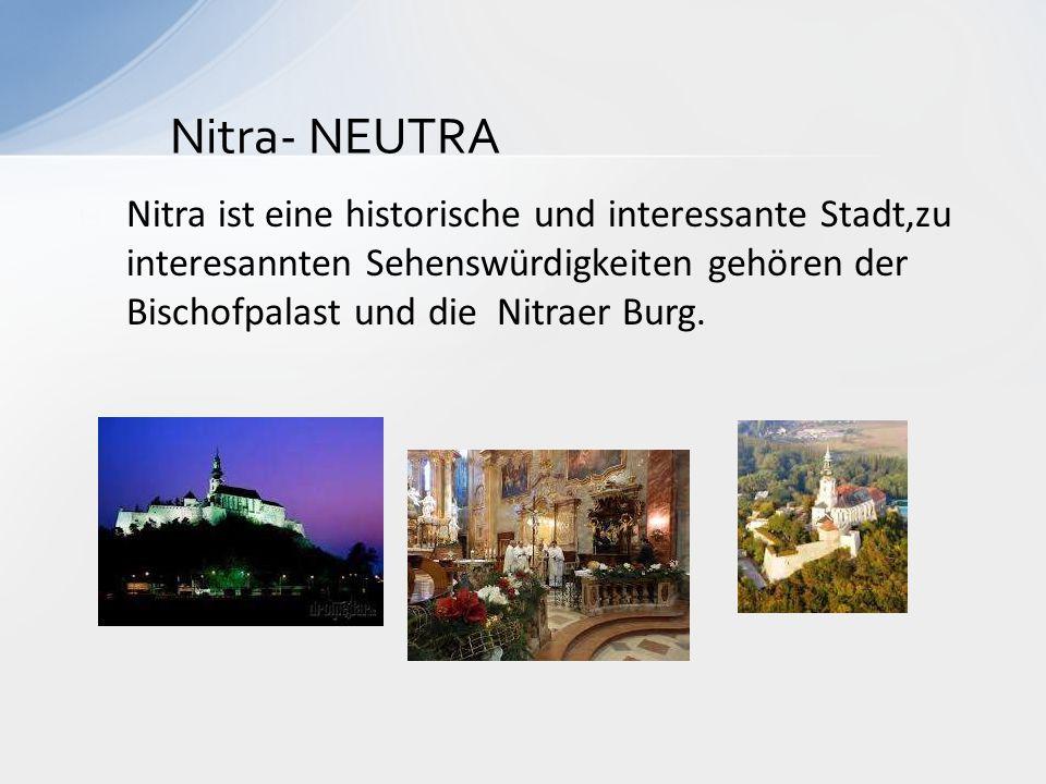 Nitra- NEUTRA Nitra ist eine historische und interessante Stadt,zu interesannten Sehenswürdigkeiten gehören der Bischofpalast und die Nitraer Burg.