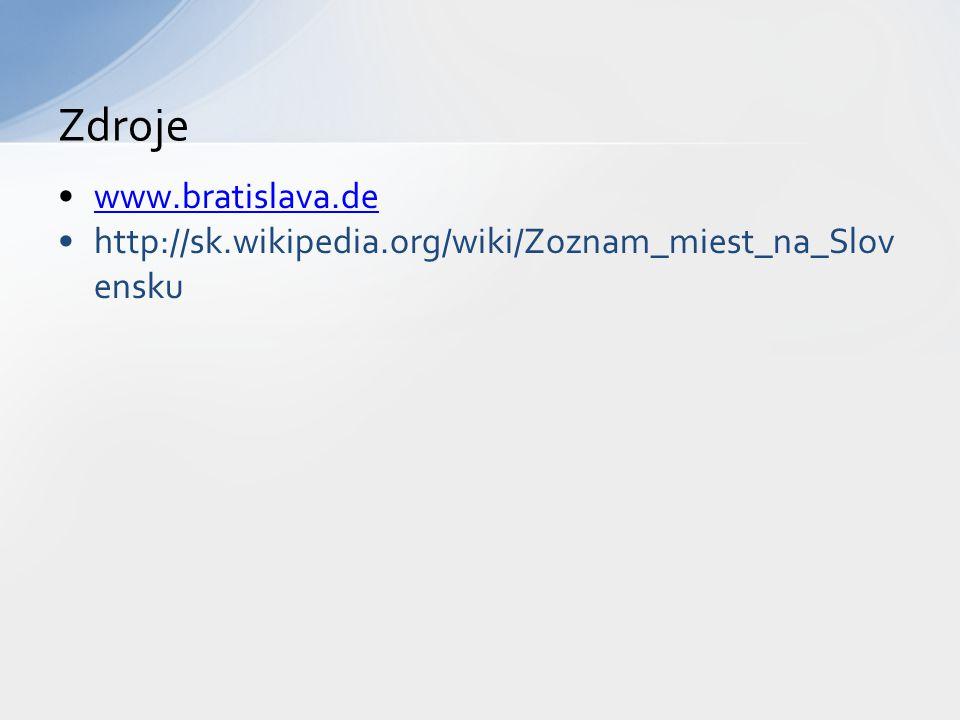 Zdroje www.bratislava.de