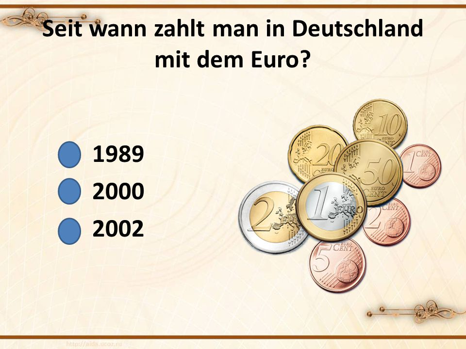 Seit wann zahlt man in Deutschland mit dem Euro