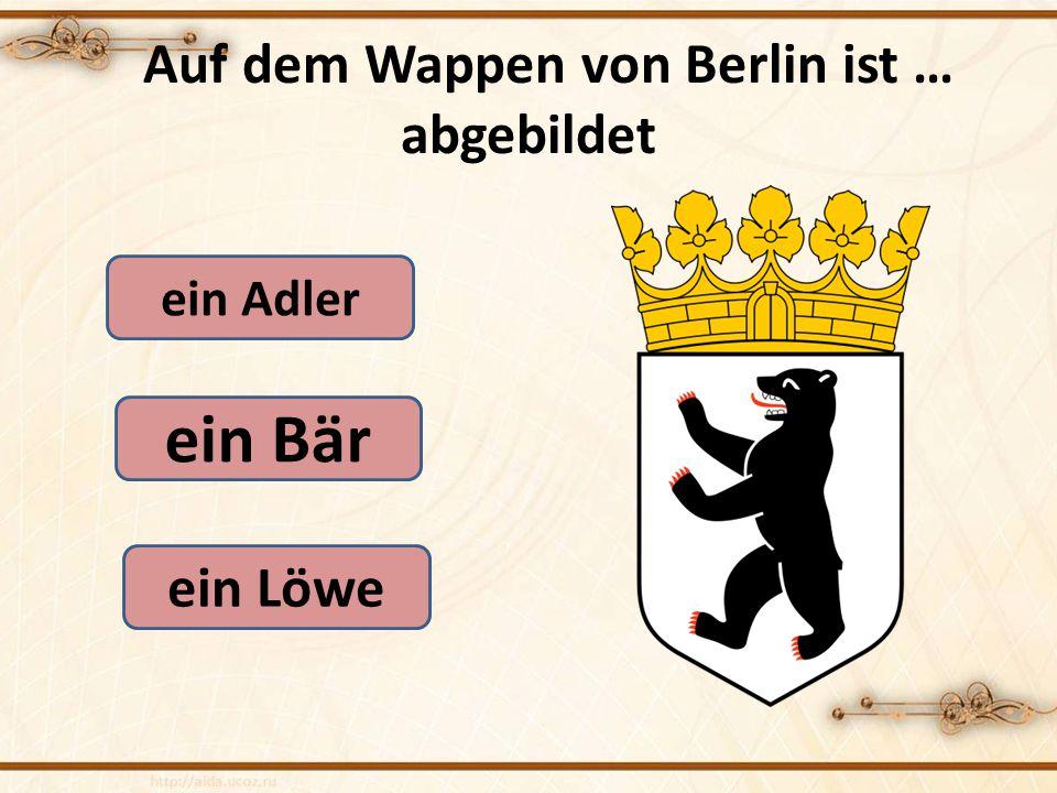 Auf dem Wappen von Berlin ist … abgebildet