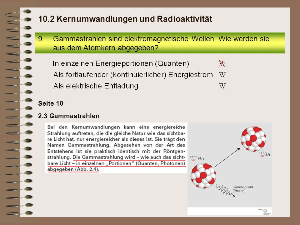 10.2 Kernumwandlungen und Radioaktivität