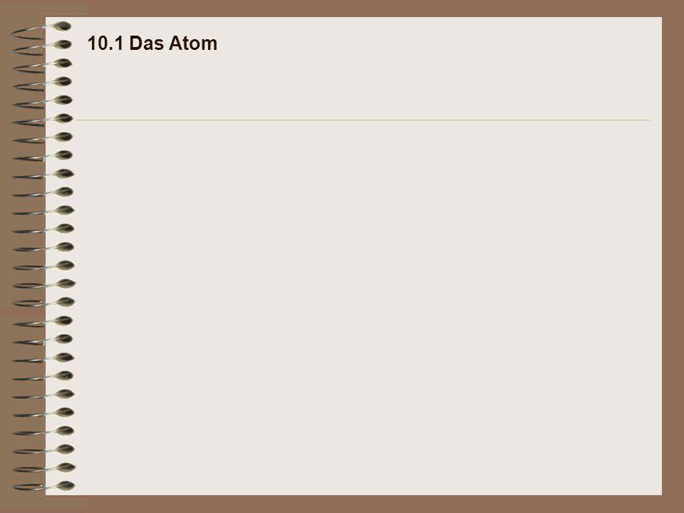 10.1 Das Atom