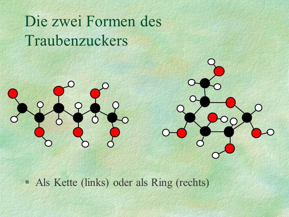 Die zwei Formen des Traubenzuckers