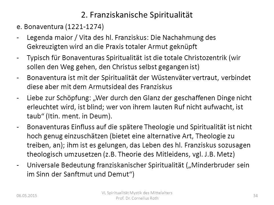2. Franziskanische Spiritualität