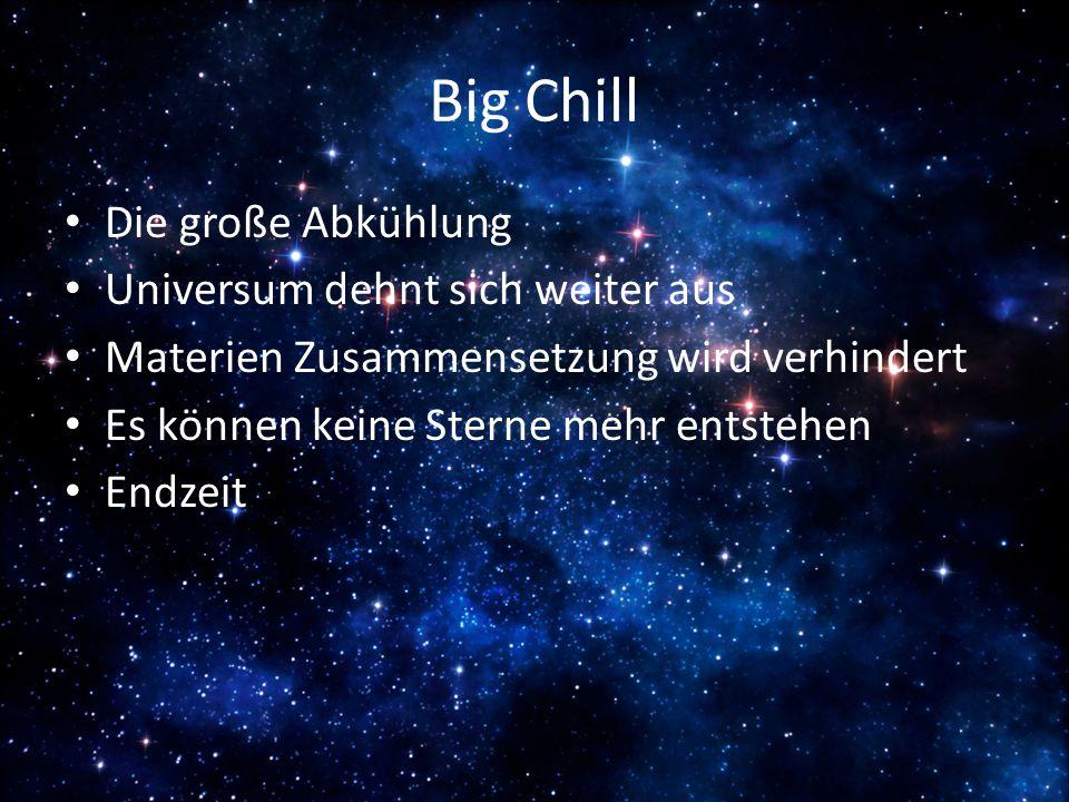 Big Chill Die große Abkühlung Universum dehnt sich weiter aus