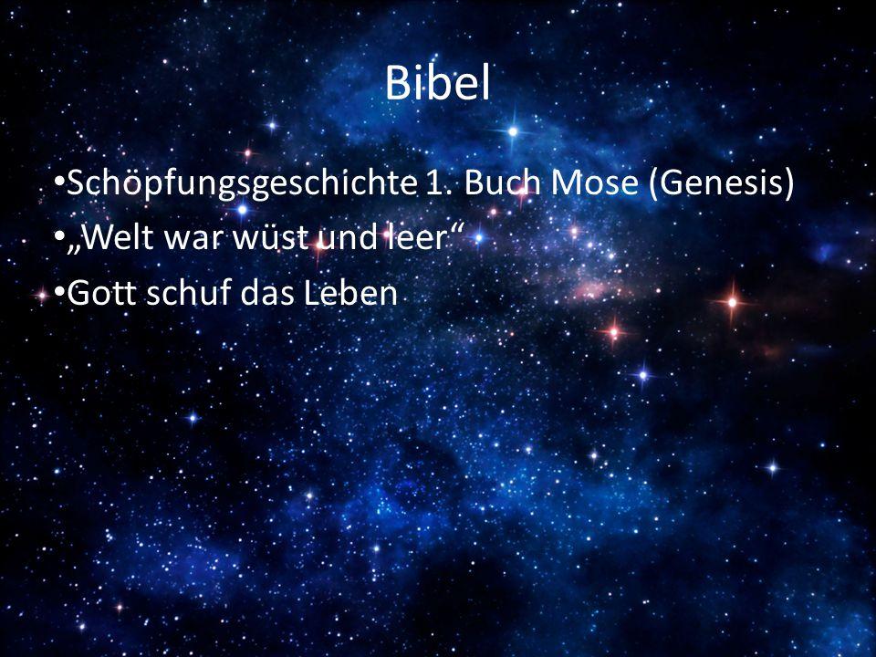 Bibel Schöpfungsgeschichte 1. Buch Mose (Genesis)