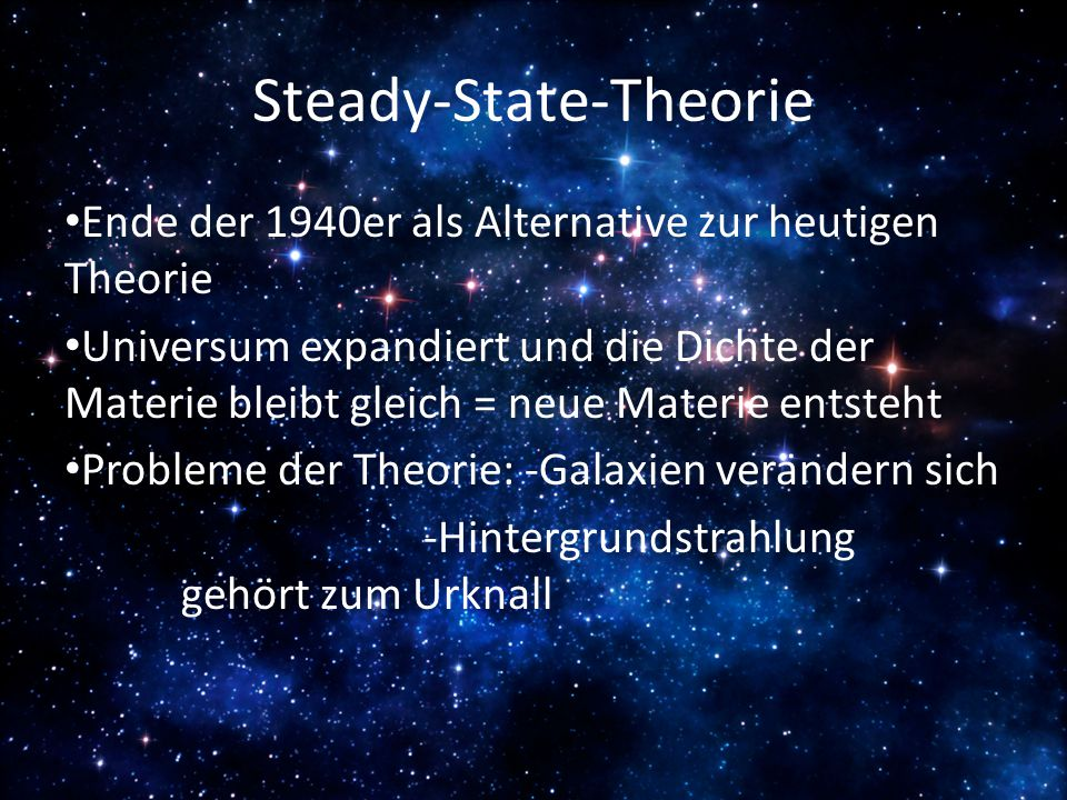 Steady-State-Theorie