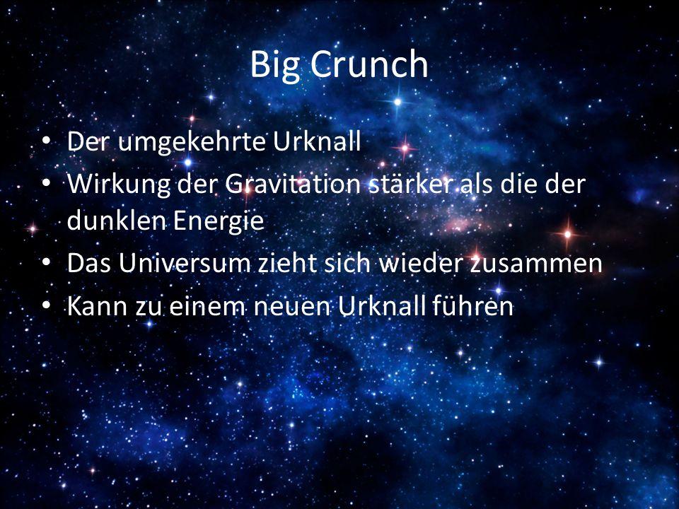 Big Crunch Der umgekehrte Urknall