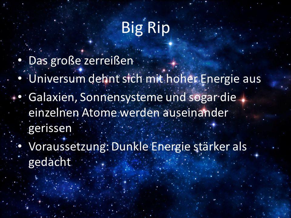 Big Rip Das große zerreißen Universum dehnt sich mit hoher Energie aus