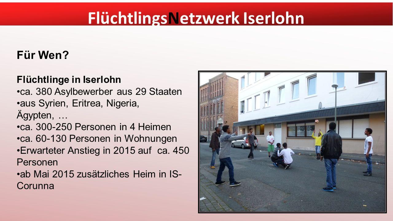 Für Wen Flüchtlinge in Iserlohn ca. 380 Asylbewerber aus 29 Staaten