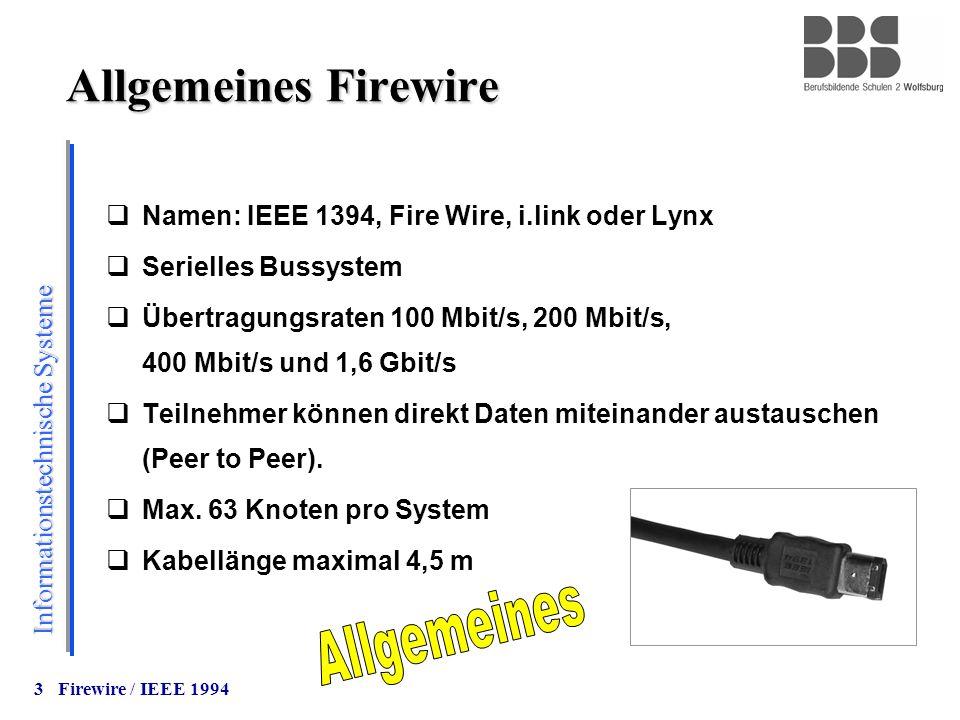 Allgemeines Firewire Allgemeines