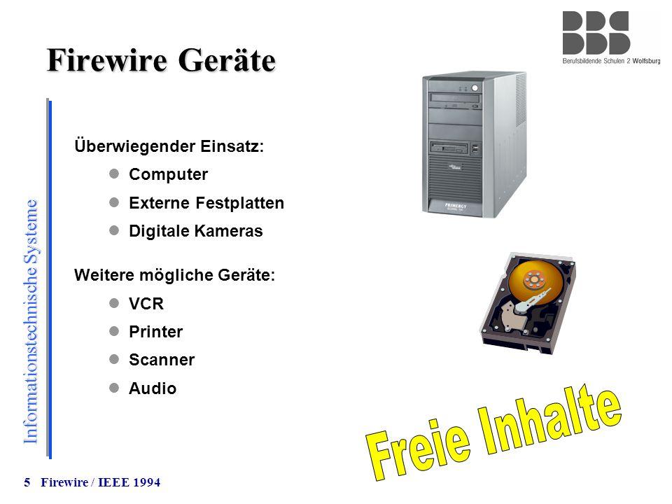 Firewire Geräte Freie Inhalte Überwiegender Einsatz: Computer