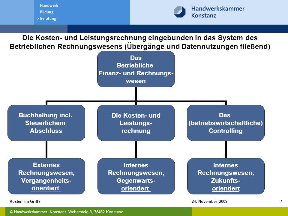 Die Kosten- und Leistungsrechnung eingebunden in das System des Betrieblichen Rechnungswesens (Übergänge und Datennutzungen fließend)